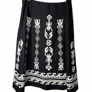 Joseph Ribkoff black & white lobster print skirt